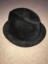 VTG 50s/60s Knox Twenty Black Felt Pork pie Fedora Hat Men's SZ 7 1/2