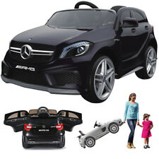 Mercedes A45 AMG Kinderauto Kinderfahrzeug Kinder Elektroauto m. Tür Gefedert sw