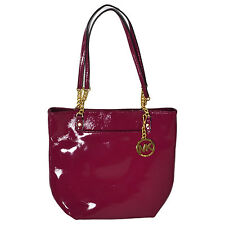 Michael Kors Womens Handbag Jet Set Chain Handle Tote Mk Deep Pink Purse New Nwt
