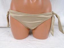 Victoria Secret Shimmery Light Tan  Side Tie Bikini Bottom X-Small #307L