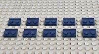 Lego Part 10 X 32028 - 1x2 Plate With Rail - Dark Bluish Grey