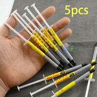 5 x 1g Gray Thermal Grease Paste Compound Syringe For PC / CPU Heatsink Silicone