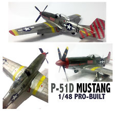 P-51D Mustang USAAF WWII Aircraft 1/48 Pro-Built and Painted