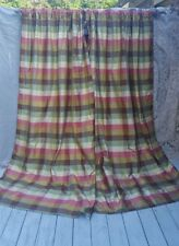 PR/2 GORGEOUS FRENCH COUNTRY 100% SILK  DRAPES LINED PANELS India's Heritage
