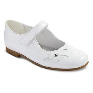 Rachel Shoes Charlene White Patent Dress Shoes Girls Size 3 NEW Wedding Easter