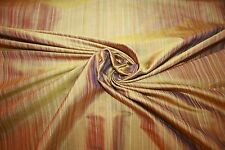 "Bronze Green Beige 100% Silk Shantung Dupioni Fabric  54"" Wide  By the Yard"