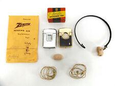 Zenith Radio Corp Radionic Hearing Aid Lot 50-X Courier vtg Medical Headphone