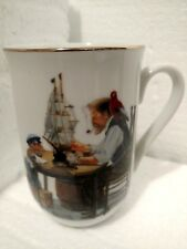Norman Rockwell Vintage 1982 For a Good Boy Ceramic Cup