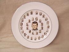 Vtg US Presidents Collectible Plate Photos Through John F Kennedy 22K Gold Trim