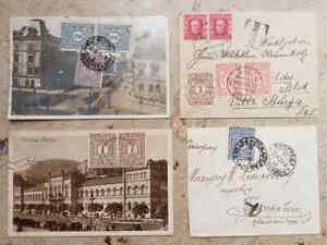 JUGOSLAWIEN, 1925/1937, interessanter Posten mit 20 Belegen mit Nachportomarken