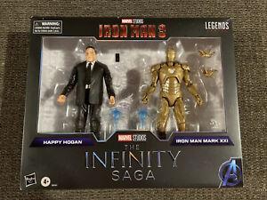 "Marvel Legends The Infinity Saga Iron Man 3 6"" HAPPY HOGAN & IRON MAN MARK XXI"