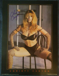 CHRISTY CANYON signed vintage 1996 ALLEY KATZ 18x24 POSTER w/ PROOF! VERY RARE!