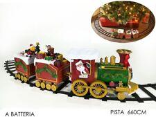 Trenino natalizio musicale treno sotto albero di Natale Ø cm 137 Babbo - Rotex
