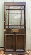 More details for antique stained glass wooden door