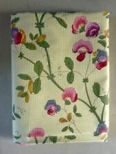 coupon de tissu de Gravigny, fleurs, pois de senteur, 69 par 212 cm, neuf