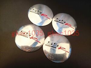 4x56mm Silver SSR Wheel Center Cap Badge Hub Cover Emblem Sticker For Chevrolet