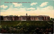 Postcard MI Kalamazoo Michigan State Normal School C. 1910 B1