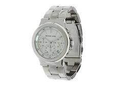 NWT Michael Kors Women's Watch SILVER SS Bracelet White Dial BEDFORD MK5221 $225