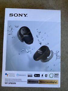 Sony WF-SP800N Truly Wireless Sports In-Ear Noise Canceling Headphones Black NEW