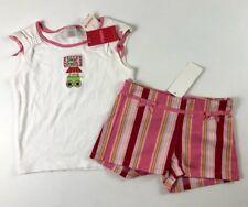 Gymboree 4 Girls Spring Fun Ice Cream Shirt & Striped Shorts NWT