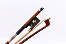 Violin Bow 4/4 Brazil Wood Ebony Frog Shell inlay durable Natural Horsetail