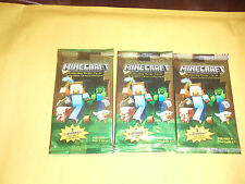 4x Minecraft Collectible Trading Cards Stickers Packs lot of 4 Packs jinx New
