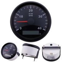 auto meter 2301 black chrome auto gage 0 8,000 rpm 3 3 4\