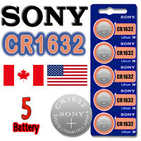 5 pcs SONY CR1632 BR1632 ECR1632 Button Cell Lithium Battery 3V. Exp. 2028