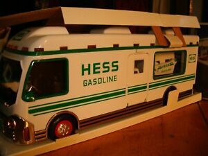 1998 Hess Truck Recreation Van with Dune Buggy and Motorcycle - In Original Box
