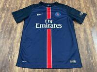 2015 Paris Saint-Germain Nike Blue Soccer Jersey - Youth XL
