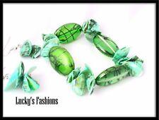 Beads Shell Stretch Bracelet Earring Set Green
