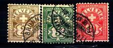 SWITZERLAND - SVIZZERA - 1906 - Tipi del 1882-1899 su carta con frammenti di fil