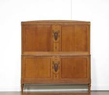 French Antique Oak Louis XVI / Art Deco Style Full Size Bed