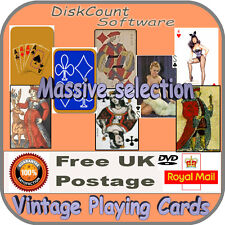 Vintage Playing Card Images 7800+ on CD dozens of different packs Art & Craft