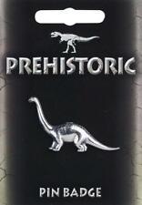 Diplodocus Dinosaur Stud-back Brooch / Pin in Fine Pewter