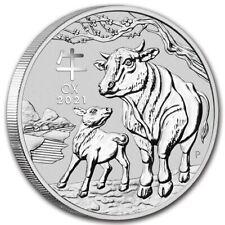 2021 Australia 1 kilo Silver Lunar Ox BU (Series III)