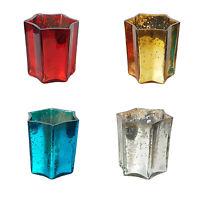 Set of 3 Shiny Glass votive Tea Light Holder Home Christmas decoration Party