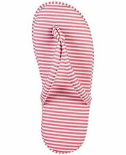 Charter Club Printed Slippers Pink Stripe Large