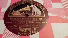 LEONARD JOY'S ALL STRING ORCH WHERE CAN YOU BE & YOU FOR ME HMV B5894