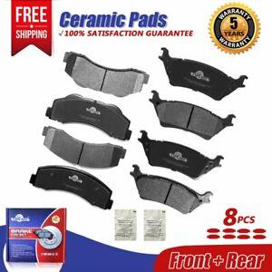 Front & Rear Ceramic Brake Pads Set D1414 D1602 For 2012 2013 - 2017 FORD F-150