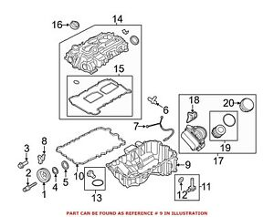 For BMW Genuine Engine Oil Pan 11137618512
