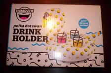 New listing Big Mouth Polka Dot Swan Drink Holder Pool Float Inflatable Beach Lake Pool Nib