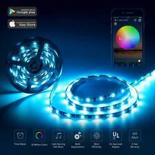 LED RGB Ruban de Guirlande Flexible WiFi Sans Fil 5050 Étanche Bande  de Lumière
