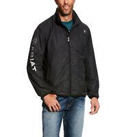 Ariat Men's Ideal Logo Black Windbreaker Jacket 10025619