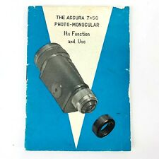 Minolta Manual 16 EE THE ACCURA 7X50 PHOTO-MONOCULAR It's Functions and Use