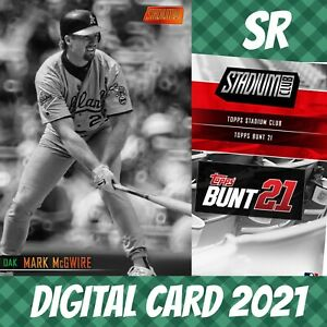 Topps Bunt 21 Mark Mcgwire Stadium Club Orange Base S/2 2021 Digital Card