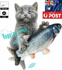 Electric Dancing Fish Kicker Cat Toy Wagging Realistic Moves AU STOCK