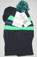 NEW CARTERS BABY BOYS BLUE AND GREEN HAT & MITTEN SET 9-18M