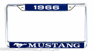 Mustang Number Plate Licence Frame USA Size 1966 66 Coupe Convertible Fastback