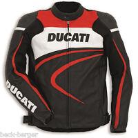 DUCATI Dainese SPORT C2 Lederjacke Jacke LeatherJacket perforiert schwarz NEU %%